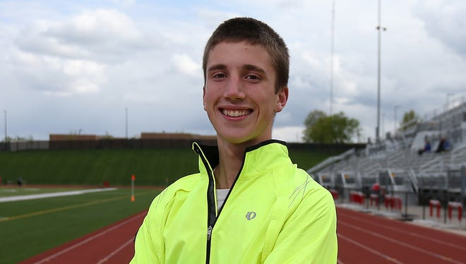 Linn-Mar senior distance runner Josh Evans