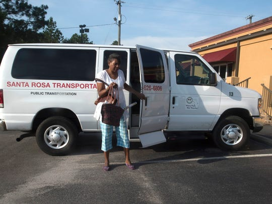 Milton resident Betty Jennings uses the Santa Rosa Transportation system to get to work on Monday, July 10, 2017.