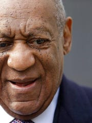 "This April 18, 2018 photo shows Bill Cosby arriving for trial at the Montgomery County Courthouse in Norristown. Cosby says he ""will never have remorse"" for the sexual encounter that sent him to prison because he considers his conviction the work of ""a low-life district attorney and a corrupt judge."""