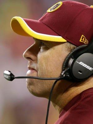 Redskins coach Jay Gruden.