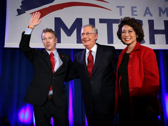 Kentucky Sens. Rand Paul and Mitch McConnell along