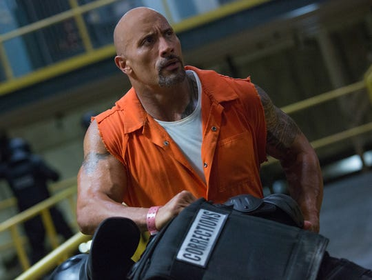 "Dwayne Johnson stars as lawman Luke Hobbs in ""The Fate"