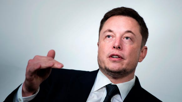Elon Musk, CEO of SpaceX and Tesla, appears during