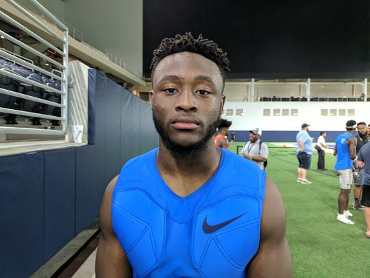 Owen Pappoe may put up high scores in the Nike Football Rating, but he said that doesn't have much to do with football. (Photo: Jim Halley, USA TODAY).
