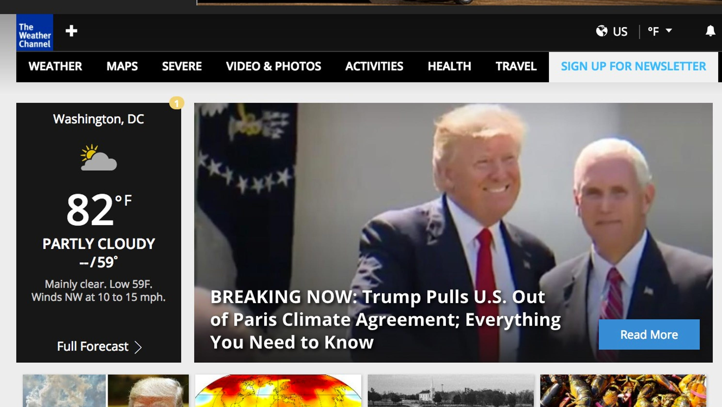 Weather Channel, Huffington Post react to Donald Trump's climate ...