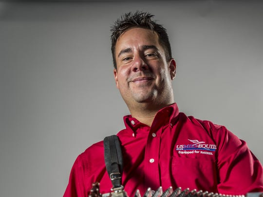 Cajun musician Kevin Naquin of Kevin Naquin & The Ossun Playboys poses for photographs in Lafayette, LA, Wednesday, Aug. 12, 2015.