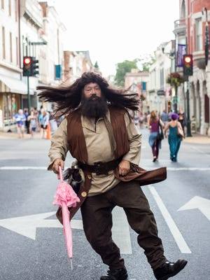 Hagrid was one of the characters from the magical world of Harry Potter on hand for the Queen City Potter Party this past summer.