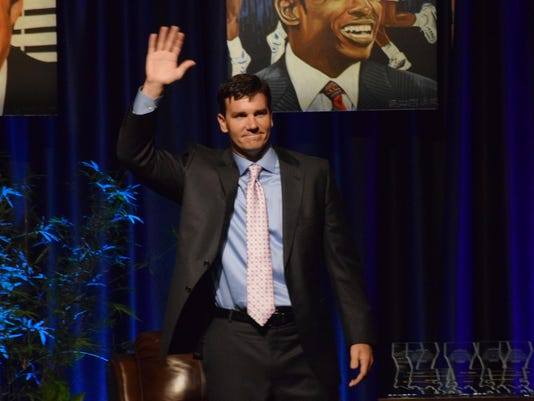 ANI Jake Delhomme Jake Delhomme played football at the University of Lafayette and in the NFL with the New Orleans Saints and the Carolina Panthers. Delhomme led the Panthers to the Super Bowl XXXVIII in his first season. He is one of the 2105 inductees in