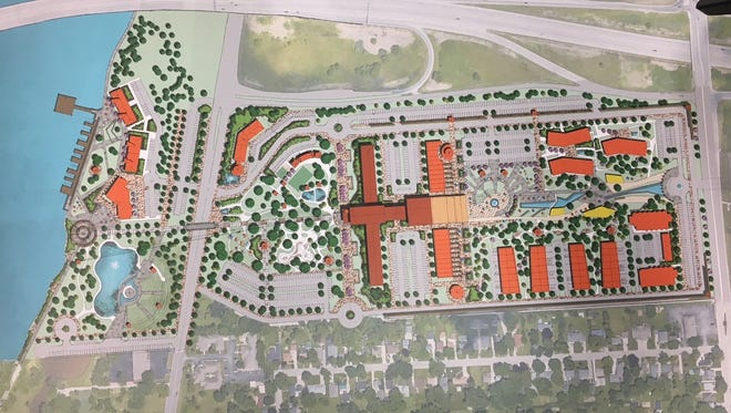 A conceptual design for what redevelopment could look like if the Green Bay Correctional Institution moved.