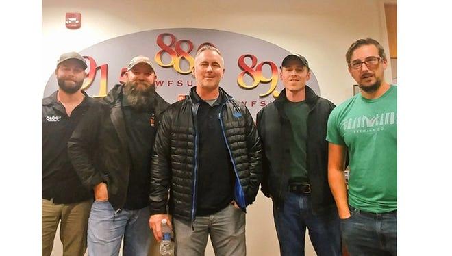 Left to right: Nick Walker (Ology), Ryan LePete (Deep), Byron Burroughs (Proof), Jesse Ross (Lake Tribe), Gabe Grass (Grasslands).