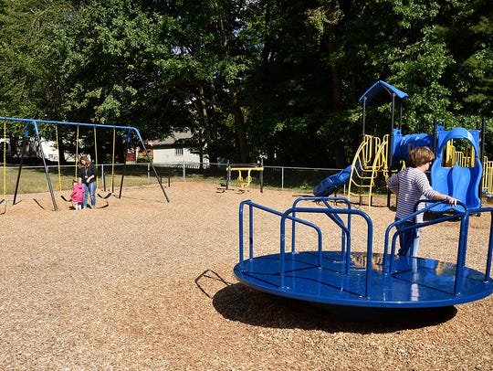 The playground at the Valley Program in Norwood on