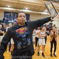 A wounded Superman lifts University High's girls basketball team