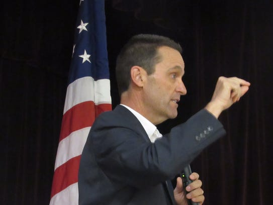 U.S. Rep. Steve Knight, R-Lancaster, answers a question