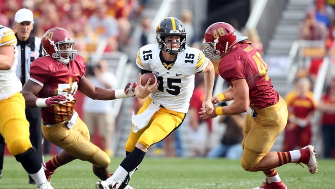 Jake Rudock and the Hawkeyes claimed a victory in last year's Cy-Hawk game.