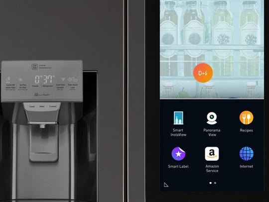 LG's latest InstaView fridge has a touchscreen tablet,