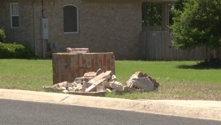 Mailbox hit by speeder in Cabot