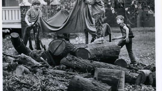 Three Springfield boys (left to right) Chris Wilcox,