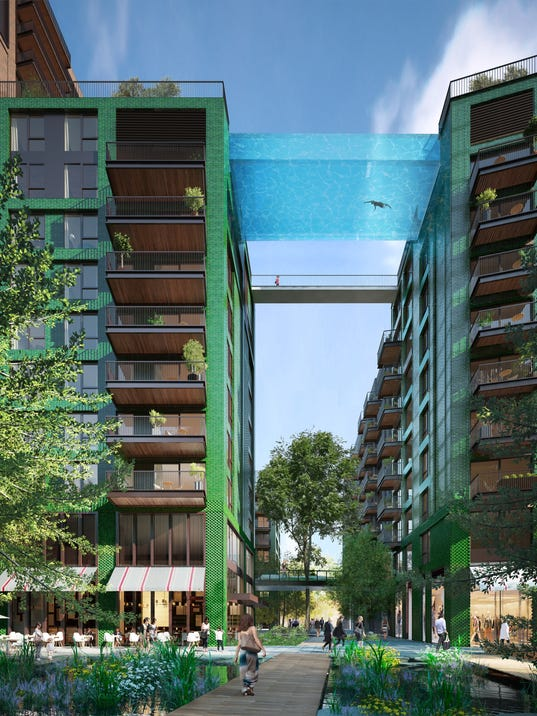 Glass 39 sky pool 39 coming to london - Apartments with swimming pool london ...