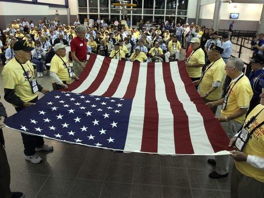Honor flight flag fold