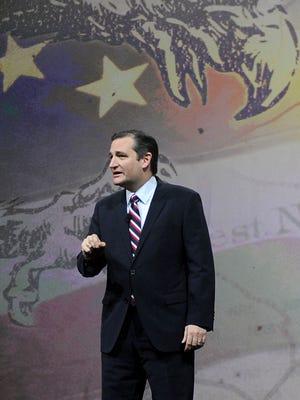 Sen. Ted Cruz speaks the NRA convention in Nashville, Tenn., on April 10, 2015.