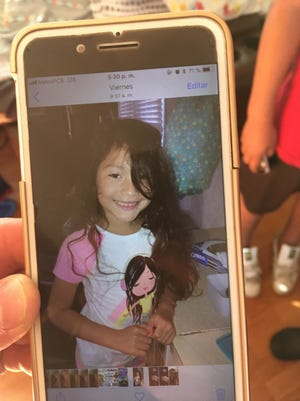 New Castle County Police are looking for 5-year-old Allison Aguayo. Police said family members last saw her around 4:10 p.m. Sunday on Sophia Drive. Allison last was seen wearing a peach and white dress with silver sandals, police said. She's 3-foot-tall with long black hair that may be in a ponytail. Her eyes are brown.