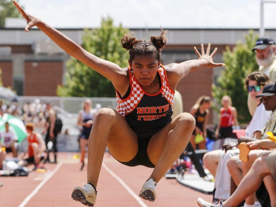 Frannie Sokolik of North Fond du Lac High School will return to the state track and field meet in both the long jump and triple jump.
