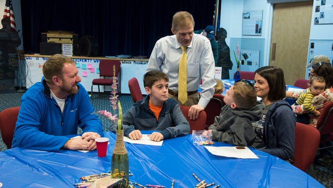 Congressman Jim Jordan speaks with kids who attended the Presidents Day event last year at the Hayes Presidential Library and Museums. Jordan and State Rep. Bill Reineke will participate in Presidents Day activities on Monday.
