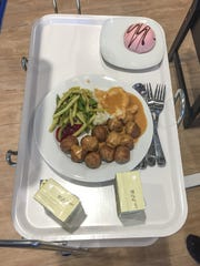 The meatballs sold inside the new Columbus IKEA on Wednesday, June 7, 2017.