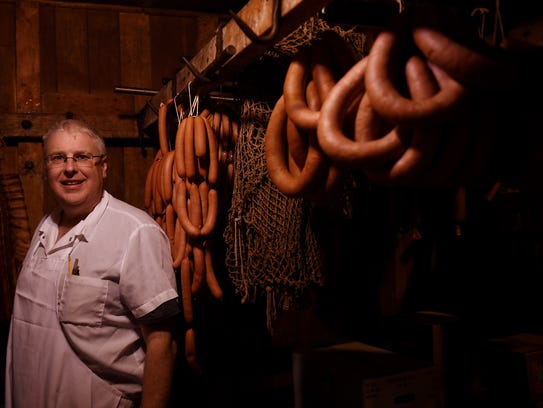 Steve Struble, the owner of the Swiss Pork Store in