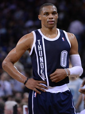 Thunder point guard Russell Westbrook still is recovering from an April knee surgery.