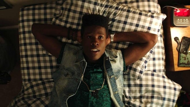 "Shameik Moore stars as Malcolm in a scene from ""Dope."""