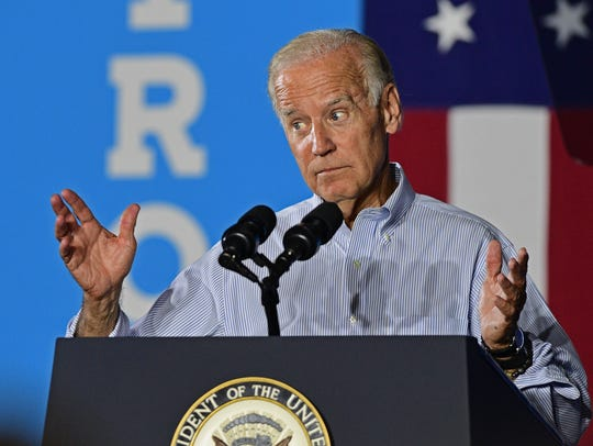 Vice President Joe Biden speaks at a campaign event