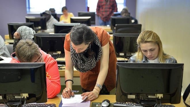 MNsure applicants worked on their enrollment information in March.
