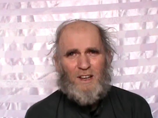 This image made from video released by the Taliban