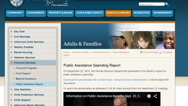 Stearns County's website for information about some of its humans service programs.