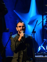 Ringo Starr performs with his All Starr Band at the Peace Center in Greenville, South Carolina.