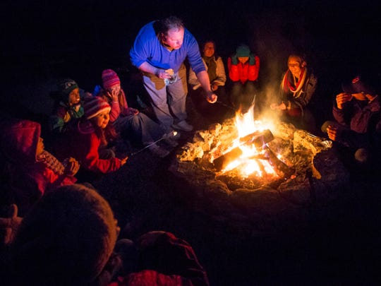 Camp out with your family at Barfield Park.