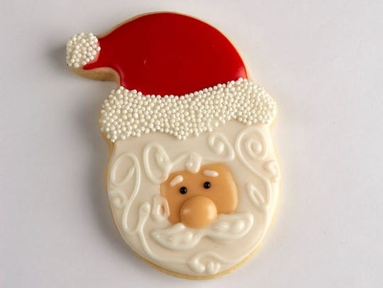 The winning Santa sugar cookie submission.