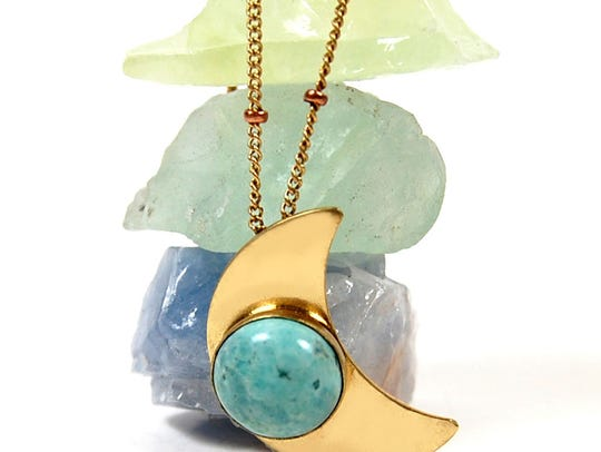 Luna Rayne's moon necklace for $38.