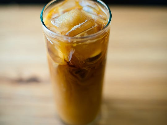 Iced coffee.