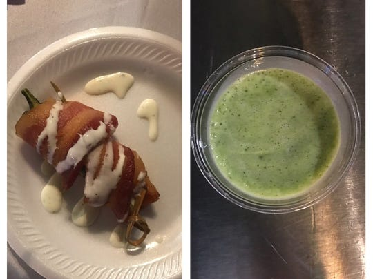 Food choices at Taste of Jensen ranged in nutritional value from bacon-wrapped chicken-stuffed jalapeno poppers to kale smoothies.