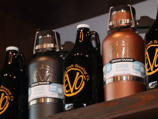 Evolution Craft Brewing's stainless steel growlers,