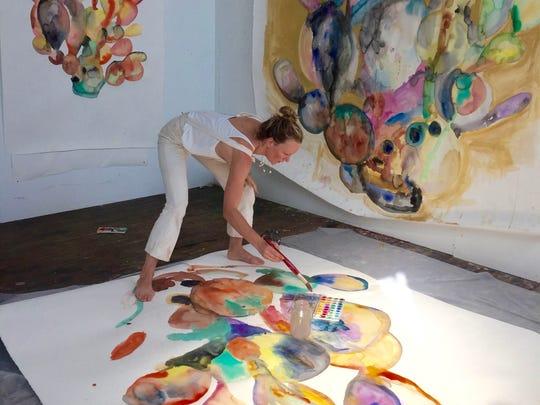 Rebecca Kirshner at work.