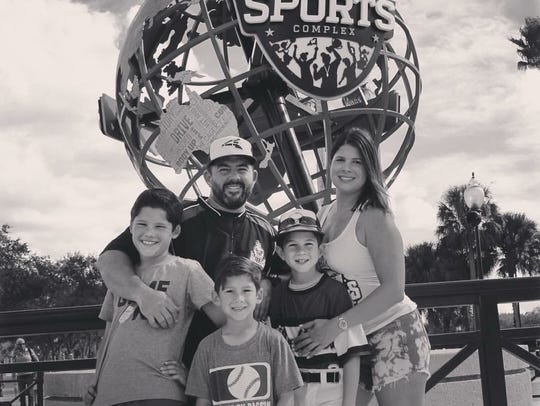 Jose and Candice Zabala with their children, left to