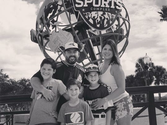 Jose and Candice Zabala with their children, left to right, Nico, Chance and Roman.
