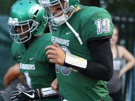 Wagner quarterback Alex Thomson is receiving interest