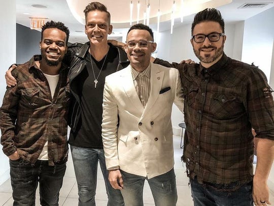 The Engage Culture presenters included, from left, Travis Greene, Bernie Herms, Tauren Wells and Danny Gokey.