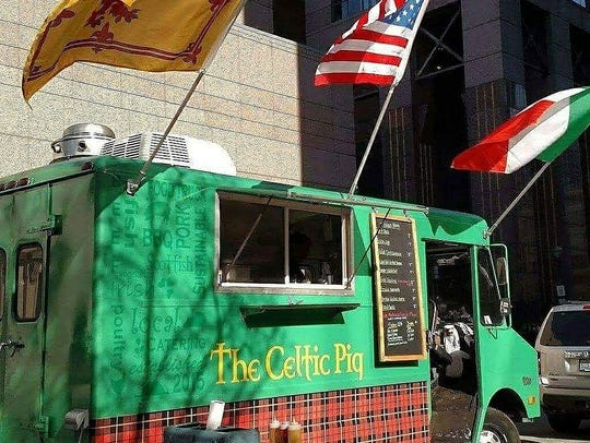 The Celtic Pig food truck in Louisville serves barbecue