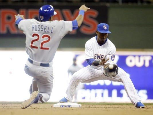 Cubs Brewers Baseball