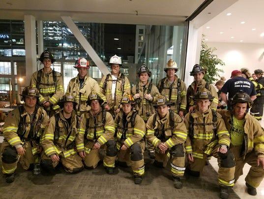 West Allis firefighter stair team